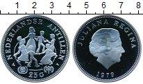 Изображение Монеты Антильские острова 25 гульденов 1979 Серебро Proof Международный год ре