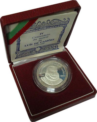 Изображение Подарочные монеты Европа Португалия 400-летие Луиса де Камоэнса 1980 Серебро Proof-