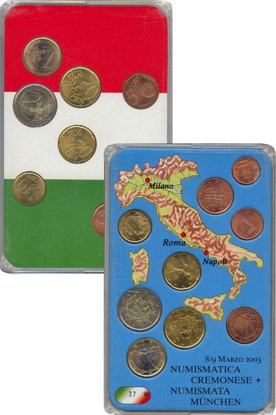 Изображение Подарочные монеты Европа Италия Евронабор 2002 года 2002
