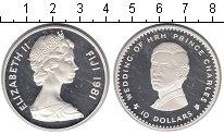 Изображение Монеты Фиджи 10 долларов 1981 Серебро Proof- Свадьба принца Чарль