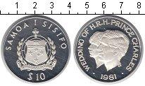 Изображение Монеты Самоа 10 тала 1981 Серебро Proof- Свадьба принца Чарль