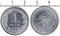 Изображение Монеты Центральная Африка КФА 1 франк 1974 Алюминий UNC-