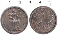 Изображение Монеты Франция Новая Каледония 2 франка 1949 Алюминий XF