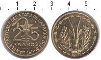 Изображение Монеты Центральная Африка КФА 25 франков 1970 Медно-никель UNC-