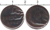 Изображение Монеты Ганновер 1 пфенниг 1842 Медь  S