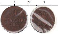 Изображение Монеты Бавария 1 пфенниг 1825 Медь