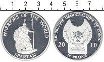 Изображение Мелочь Африка Конго 10 франков 2010 Посеребрение Proof-