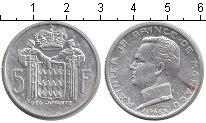 Изображение Монеты Европа Монако 5 франков 1966 Серебро