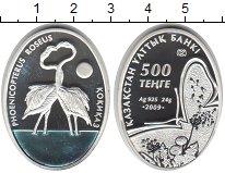 Изображение Мелочь Казахстан 500 тенге 2009 Серебро Proof Фламинго