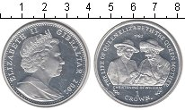 Изображение Монеты Гибралтар 1 крона 2002 Серебро UNC-