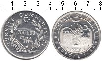 Изображение Монеты Турция 750000 лир 1995 Серебро Proof-