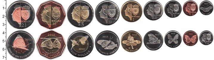 Изображение Наборы монет Нидерланды Бонайре Бонайре 2012 2012  UNC-
