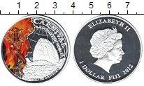 Изображение Монеты Фиджи 1 доллар 2012 Посеребрение Proof Карнавал в Рио-де-Жа