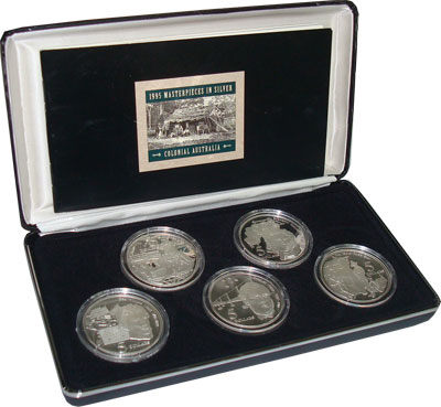 Изображение Подарочные монеты Австралия Становление Австралийского государства 1995 Серебро Proof
