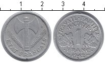 Изображение Мелочь Европа Франция 1 франк 1942 Алюминий VF
