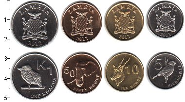 Изображение Наборы монет Замбия Замбия 2012 2012  UNC