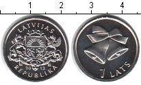 Изображение Мелочь Латвия 1 лат 2012 Медно-никель UNC-