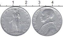 Изображение Мелочь Европа Ватикан 10 лир 1951 Алюминий XF-