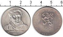 Изображение Мелочь Чехословакия 100 крон 1983 Серебро UNC-