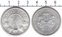 Изображение Мелочь Сингапур 10 долларов 1977 Серебро UNC-