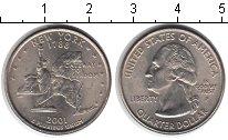 Изображение Мелочь США 1/4 доллара 2001 Медно-никель UNC P. Штат Нью-Йорк 178