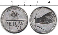 Изображение Мелочь Литва 1 лит 2011 Медно-никель UNC-
