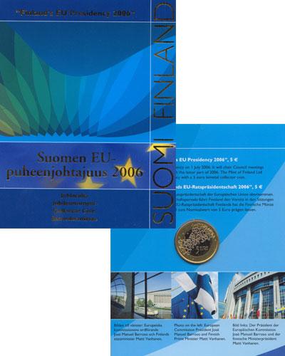 Изображение Подарочные монеты Европа Финляндия 5 евро 2006 Биметалл UNC
