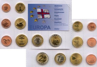Изображение Наборы монет Европа Фарерские острова Выпуск 2004 2004  UNC