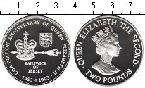 Изображение Монеты Великобритания Остров Джерси 2 фунта 1993 Серебро Proof
