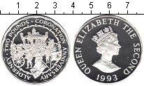 Изображение Монеты Великобритания Олдерни 2 фунта 1993 Серебро Proof