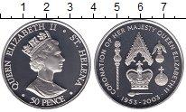Изображение Мелочь Великобритания Остров Святой Елены 50 пенсов 2003 Медно-никель UNC-