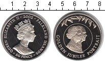 Изображение Мелочь Великобритания Фолклендские острова 50 пенсов 2002 Медно-никель UNC-
