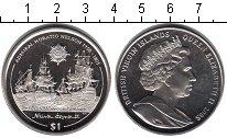Изображение Мелочь Виргинские острова 1 доллар 2005 Медно-никель UNC- Военные корабли окол