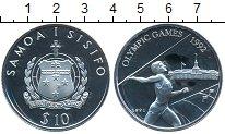 Изображение Монеты Самоа 10 тала 1991 Серебро Proof- Олимпийские игры 199