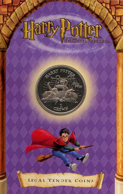Изображение Подарочные монеты Великобритания Остров Мэн 1 крона 2002 Медно-никель UNC