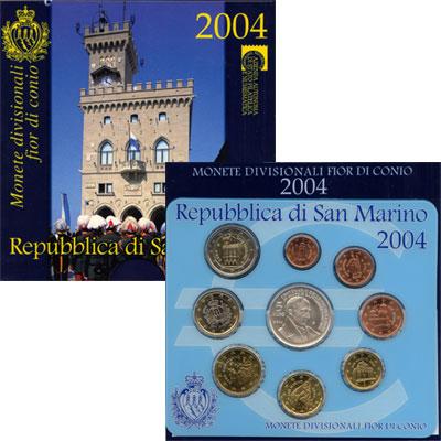Изображение Подарочные монеты Европа Сан-Марино Евронабор 2004 2004  UNC