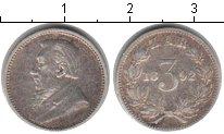 Изображение Монеты Африка ЮАР 3 пенса 1892 Серебро VF
