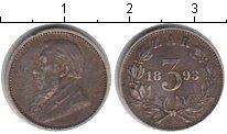 Изображение Монеты ЮАР 3 пенса 1893 Серебро XF