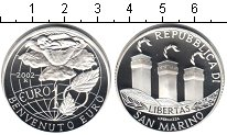 Изображение Монеты Европа Сан-Марино 1 евро 2002 Серебро Proof-