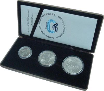 Изображение Подарочные монеты Греция Пан-Европейские игры Афины 1982 1982 Серебро Proof
