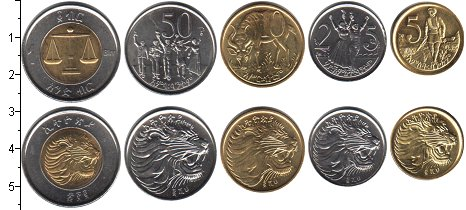 Изображение Наборы монет Африка Эфиопия Эфиопия 1977 0  UNC
