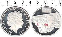 Изображение Монеты Великобритания Олдерни 5 фунтов 2009 Серебро Proof