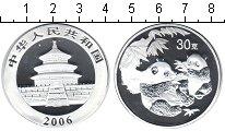 Изображение Мелочь Китай Монетовидный жетон 2006 Посеребрение Proof Панда