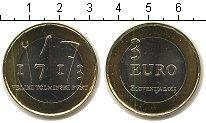 Изображение Мелочь Словения 3 евро 2013 Биметалл UNC-