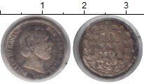 Изображение Монеты Нидерланды 10 центов 1874 Серебро