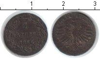 Изображение Монеты Франфуркт 1 крейцер 1856 Серебро VF
