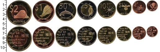 Изображение Наборы монет Антарктика Антарктида Южный Полюс 2013 2013  UNC-