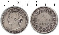 Изображение Монеты Ньюфаундленд 50 центов 1885 Серебро VF