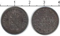 Изображение Монеты Гессен-Дармштадт 1 грош 1861 Серебро XF