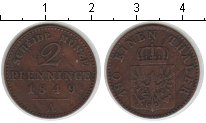 Изображение Монеты Пруссия 2 пфеннига 1849 Медь XF